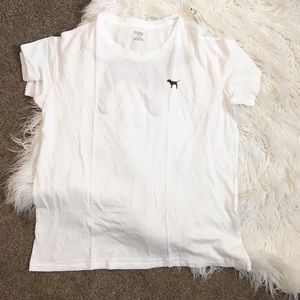 Victoria Secret pink women's white T-shirt